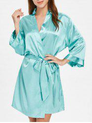 Long Sleeve Sleeping Robe with Belt -