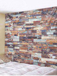 Stone Brick Print Tapestry Wall Decoration -