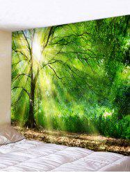 Sunshine Tree Printed Tapestry Wall Hanging Decor -
