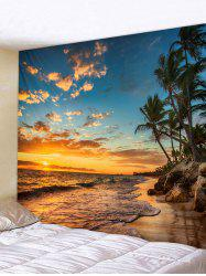Sunset Sea Beach Printed Tapestry Wall Decoration -
