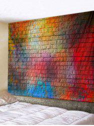 Colorful Brick Print Tapestry Wall Decoration -