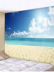 Sky Beach Print Tapestry Wall Decoration -