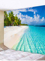 Sea Beach Printed Tapestry Wall Hanging Decoration -