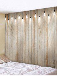 Wooden Lamp Print Tapestry Wall Hanging Decoration -
