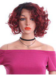 Short Side Parting Curly Lace Front Synthetic Wig -