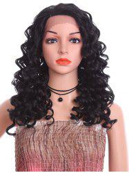Side Parting Long Loose Deep Wave Synthetic Lace Front Wig -