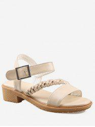Plus Size Low Heel Braid Leisure Sandals -