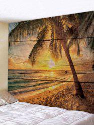 Wall Hanging Art Sunset Beach Palm Tree Print Tapestry -
