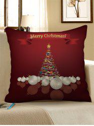 Christmas Tree Letter Print Sofa Linen Pillowcase -