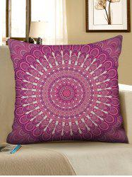 Bohemian Flower Print Decorative Linen Pillowcase -