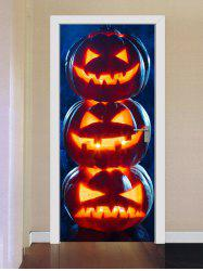 Halloween Pumpkins Print Door Cover Stickers -