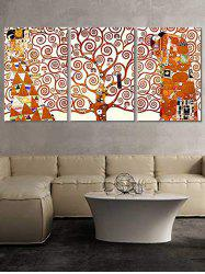 Abstract Tree Figure Print Split Canvas Paintings -