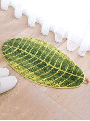 Leaf Shaped Water Absorption Area Rug -