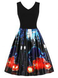 Halloween Vintage Printed Swing Dress -