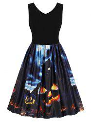Vintage Halloween Fit and Flare Dress -