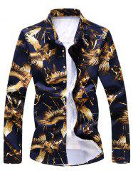 Hawk Print Long Sleeve Shirt -