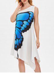 Asymmetrical One Shoulder Butterfly Trapeze Dress -