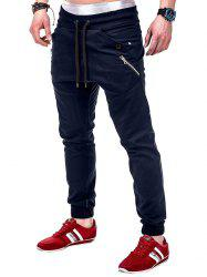 Multi Pocket Drawsting Casual Jogger Pants -