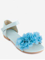 Plus Size Flat Heel Flower Chic Sandals -