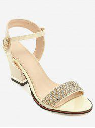 Plus Size Rhinestone Dazzling Buckled Party Sandals -