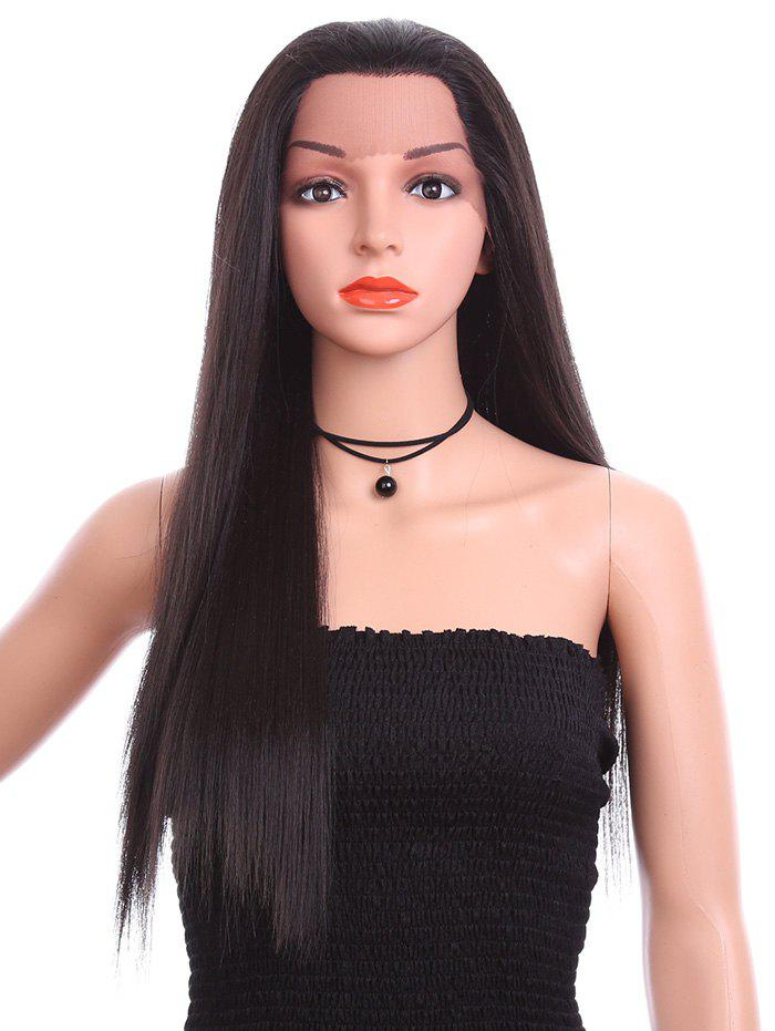 Chic Free Part Long Straight Lace Front Synthetic Wig