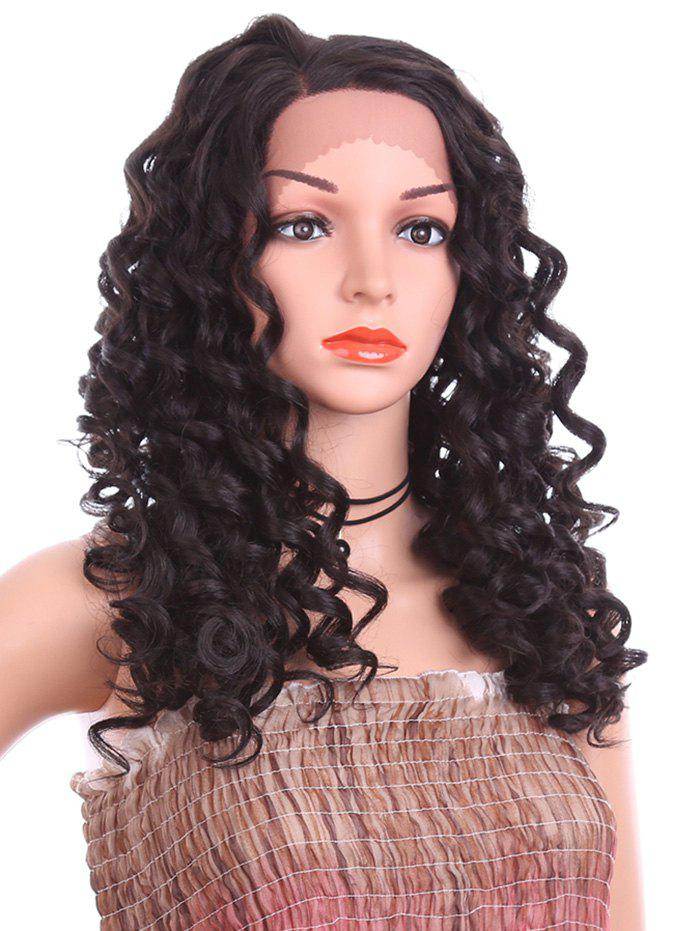 Sale Side Parting Long Loose Deep Wave Synthetic Lace Front Wig