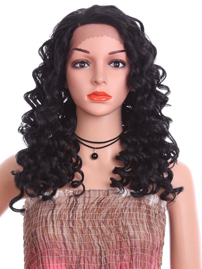 Discount Side Parting Long Loose Deep Wave Synthetic Lace Front Wig