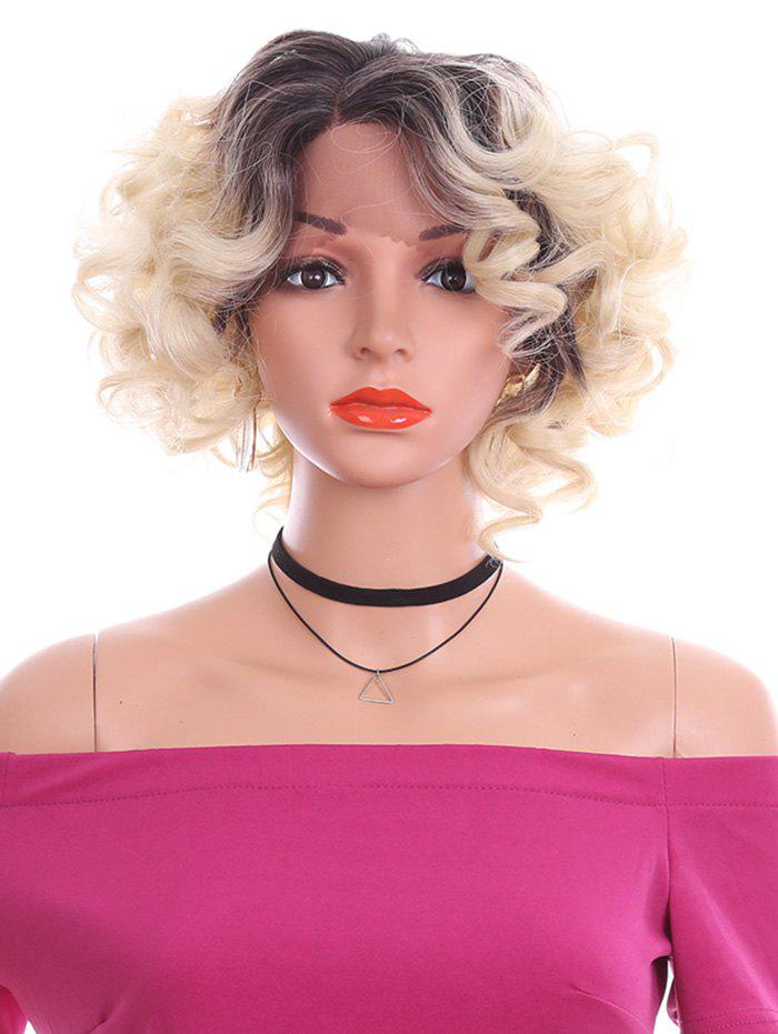 Latest Short Side Parting Curly Lace Front Synthetic Wig