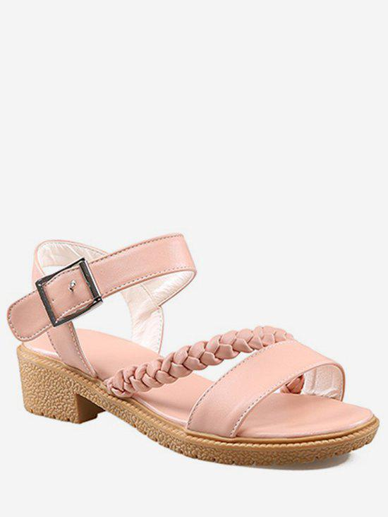 Outfit Plus Size Low Heel Braid Leisure Sandals