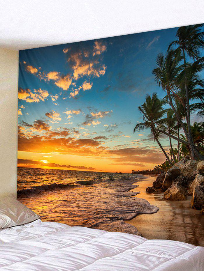 Shop Sunset Sea Beach Printed Tapestry Wall Decoration