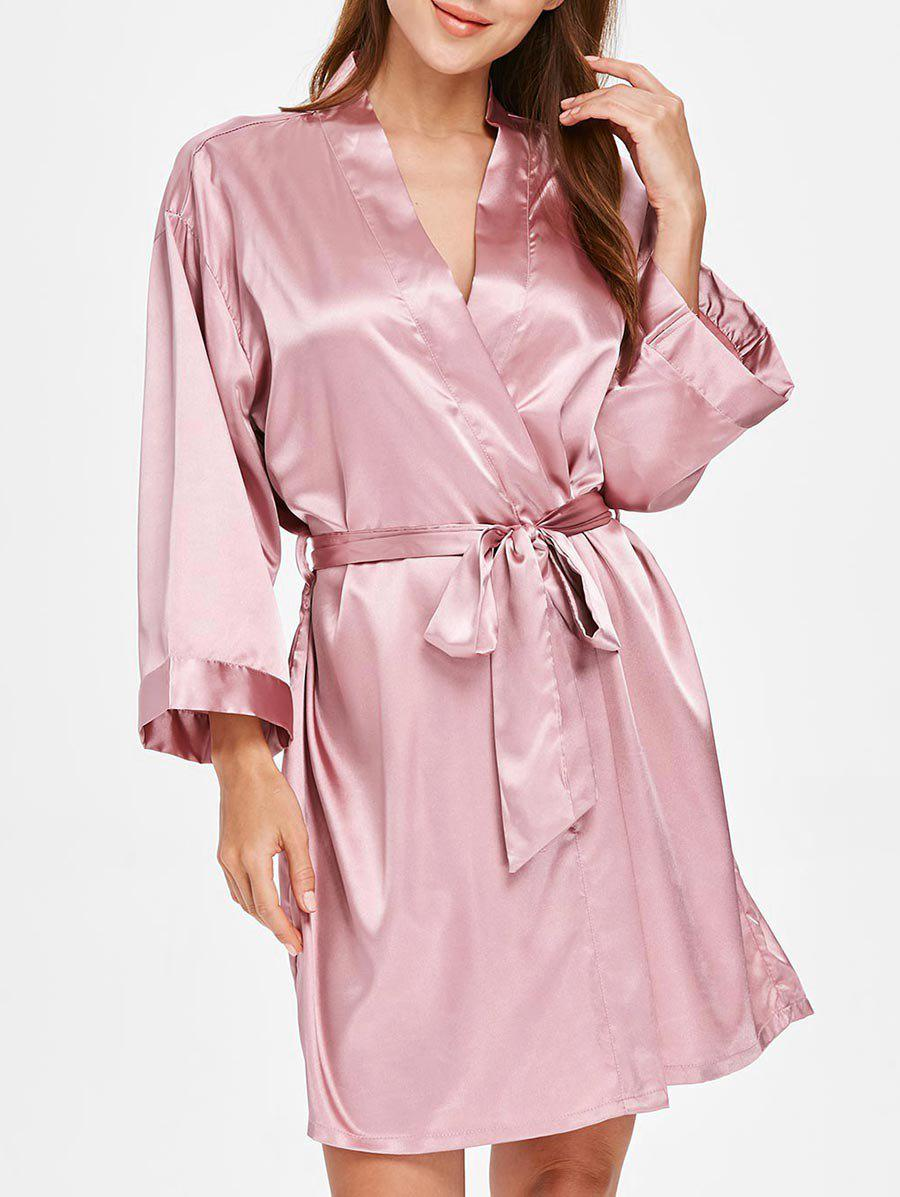 Discount Long Sleeve Sleeping Robe with Belt