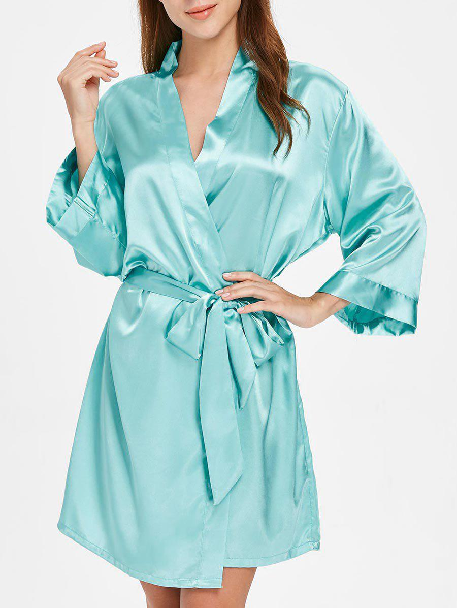 Fancy Long Sleeve Sleeping Robe with Belt