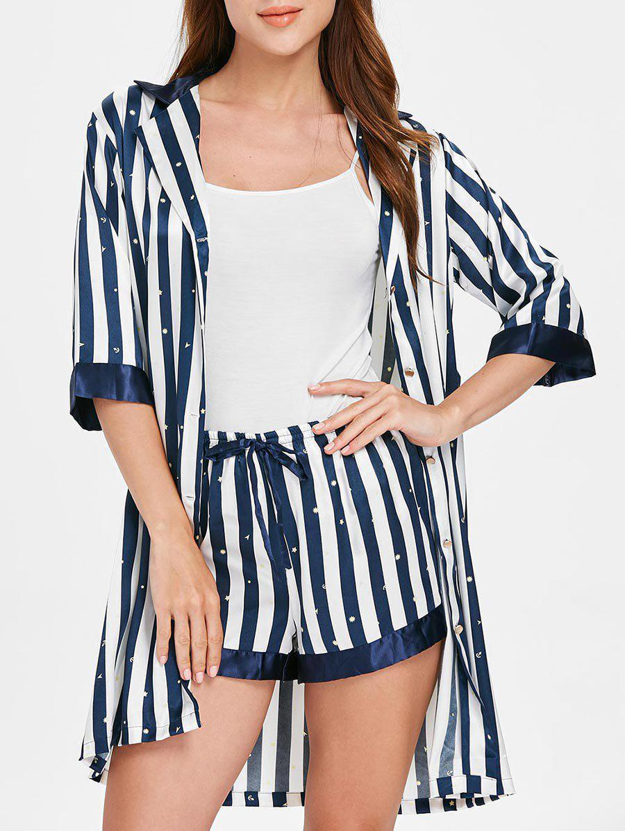 Buy Half Sleeve Vertical Stripe Pajamas