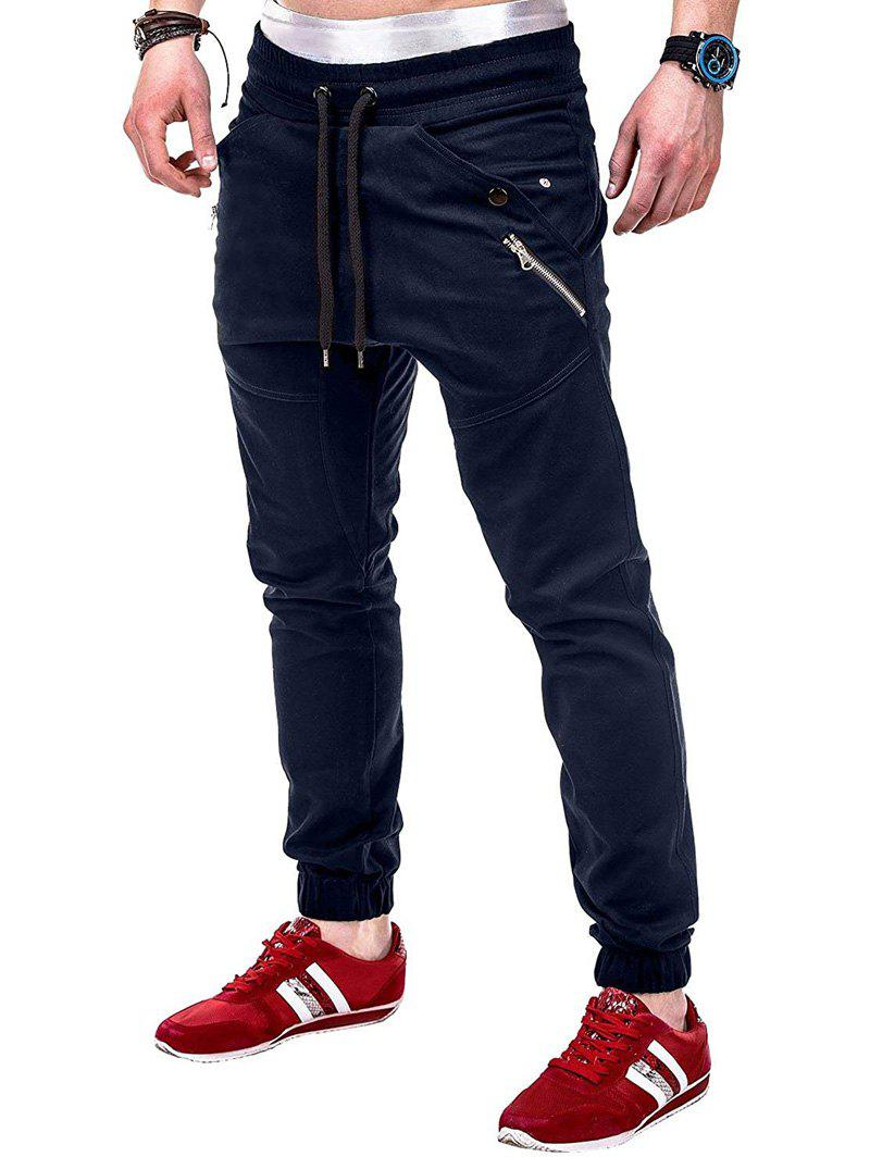 Online Multi Pocket Drawsting Casual Jogger Pants