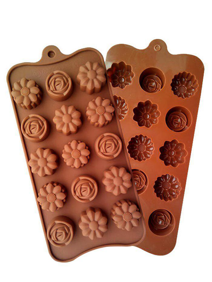 Store Kitchen Tools Flower Shape Silicon Chocolate Mold