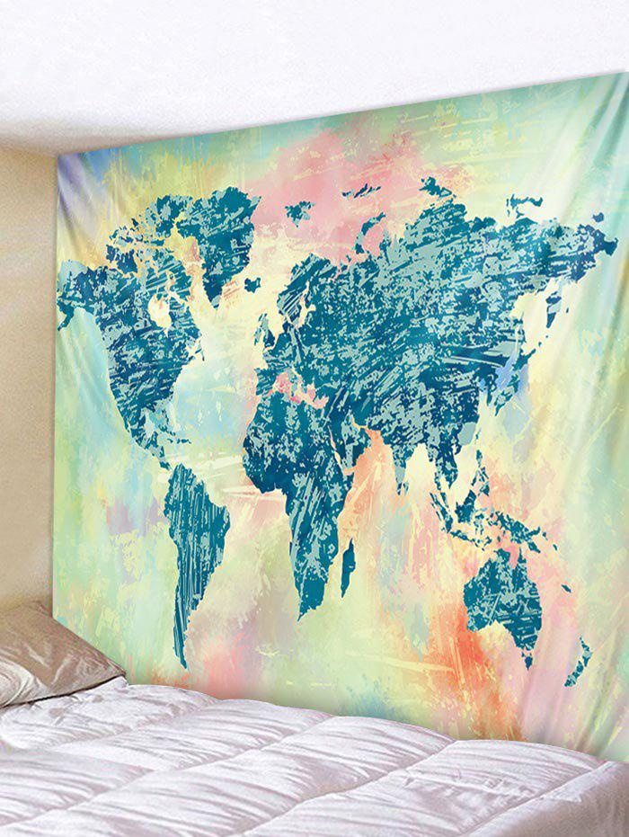 Outfits Wall Hanging Art Colorful World Map Print Tapestry