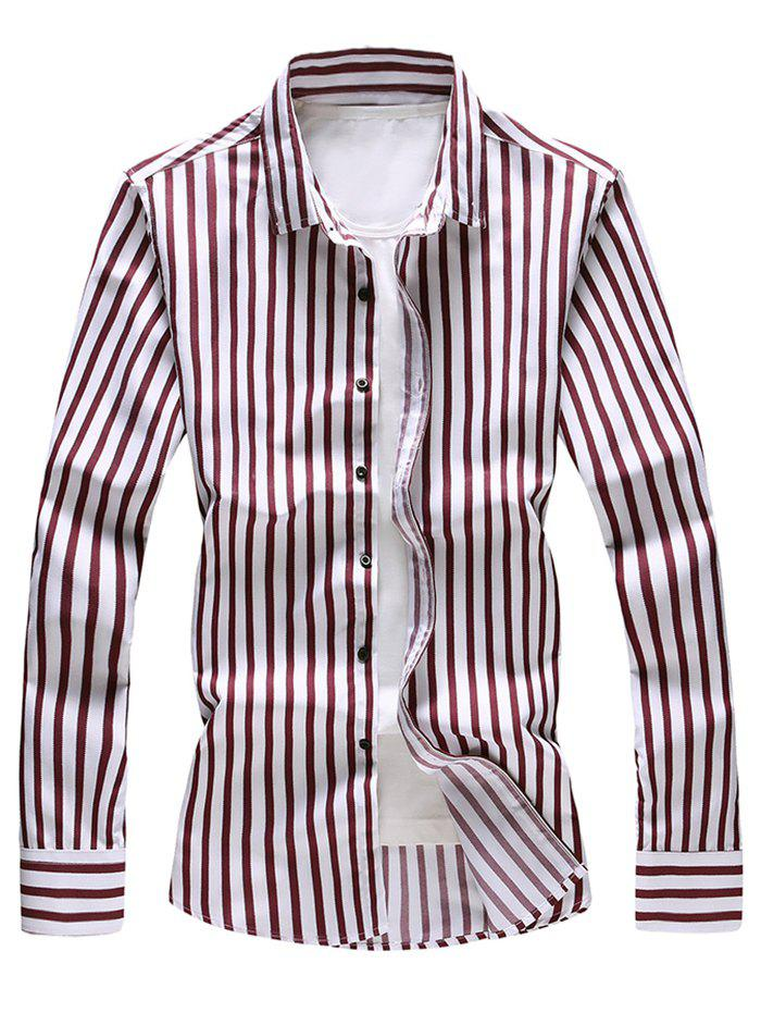 Fashion Stripe Print Long Sleeve Shirt