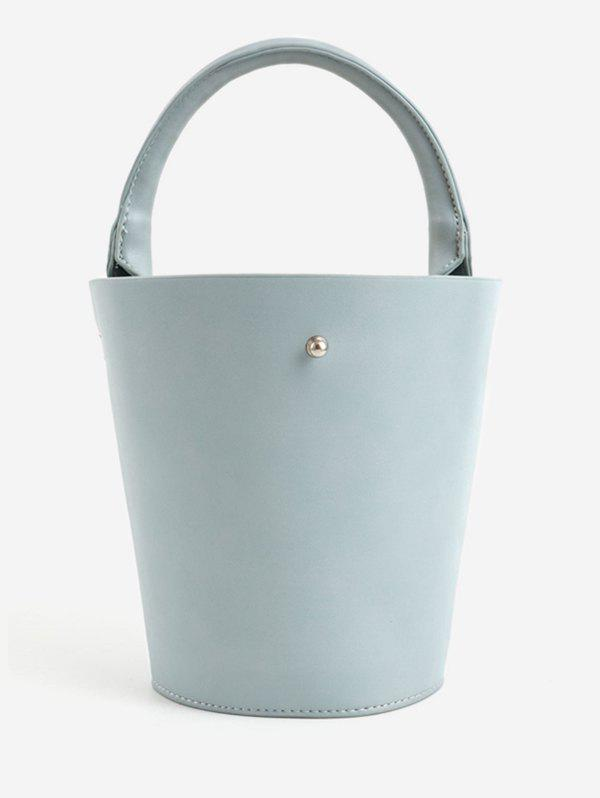 Chic Bucket Solid PU Leather Retro Tote Bag