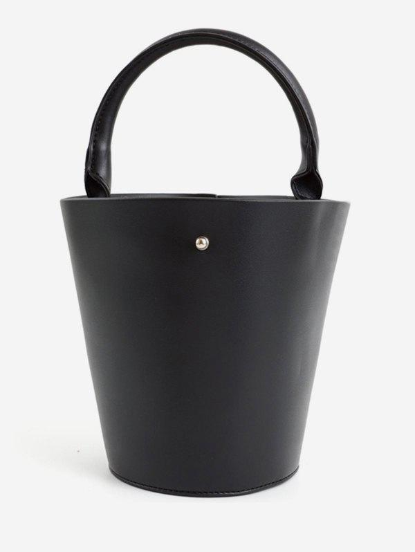 Discount Bucket Solid PU Leather Retro Tote Bag