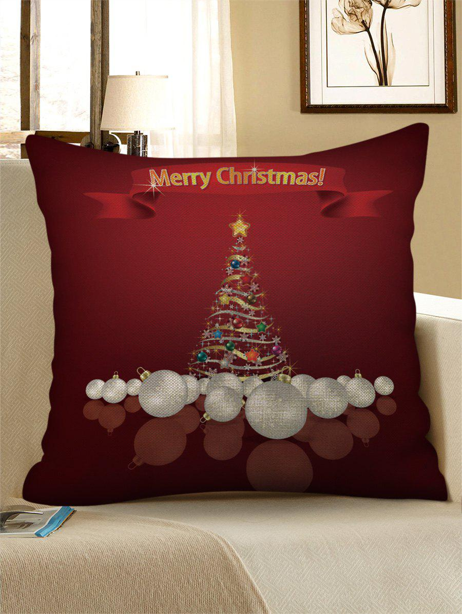 Fancy Christmas Tree Letter Print Sofa Linen Pillowcase
