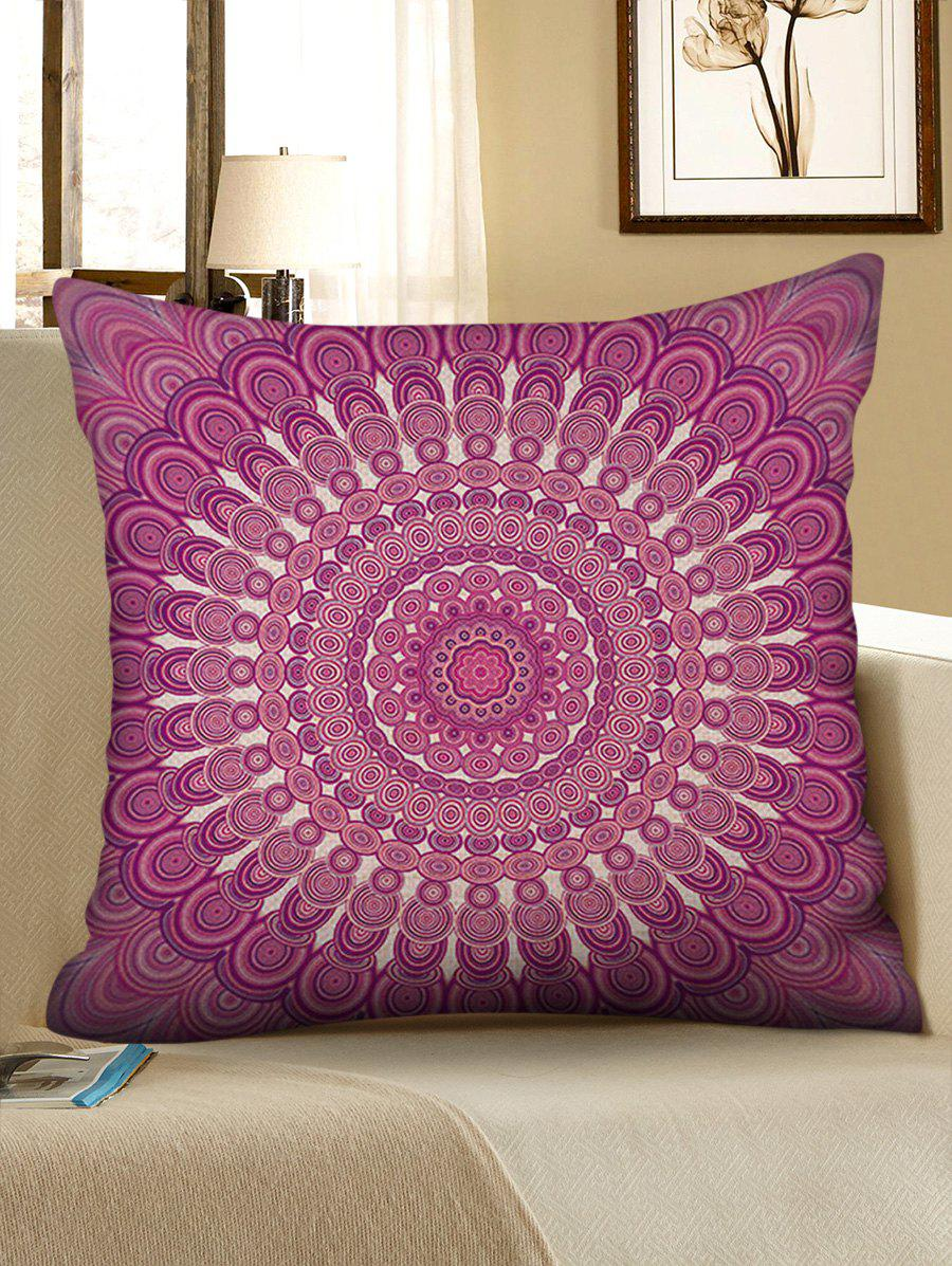 Discount Bohemian Flower Print Decorative Linen Pillowcase