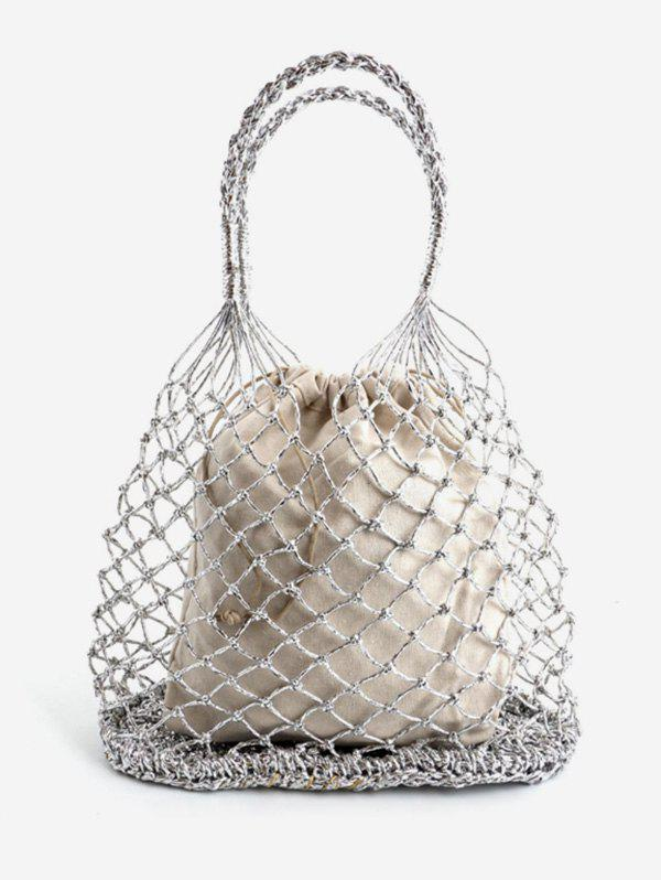 Sale Hollow Out Chic Vacation Tote Bag