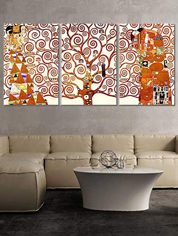 Outfit Abstract Tree Figure Print Split Canvas Paintings