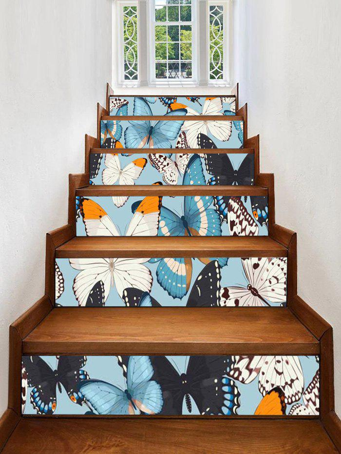 Outfits Flying Butterflies Removable Stair Stickers