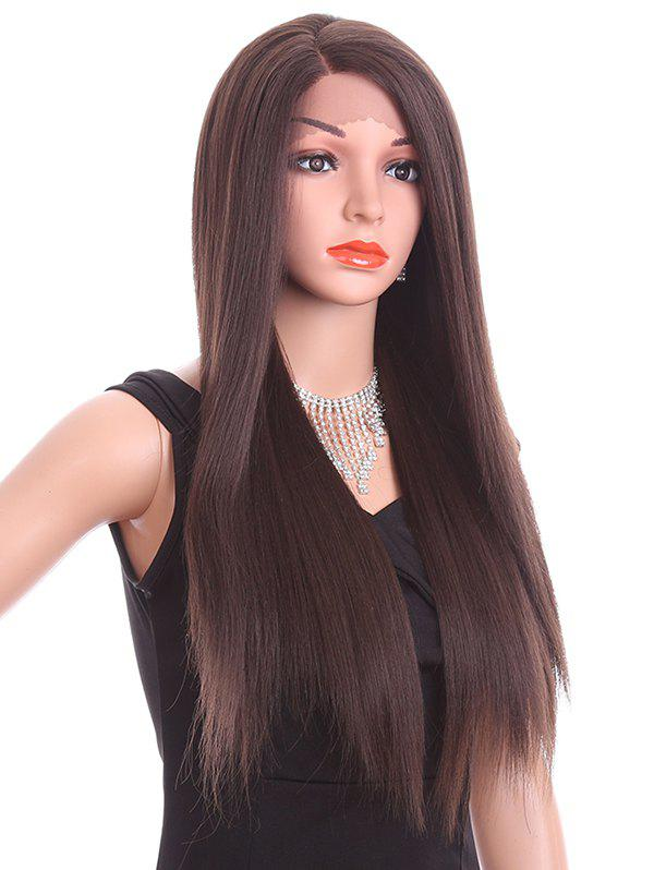 Online Long Side Parting Straight Lace Front Synthetic Wig