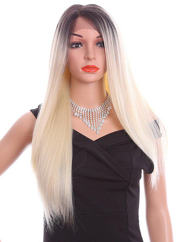Affordable Long Side Parting Straight Lace Front Synthetic Wig