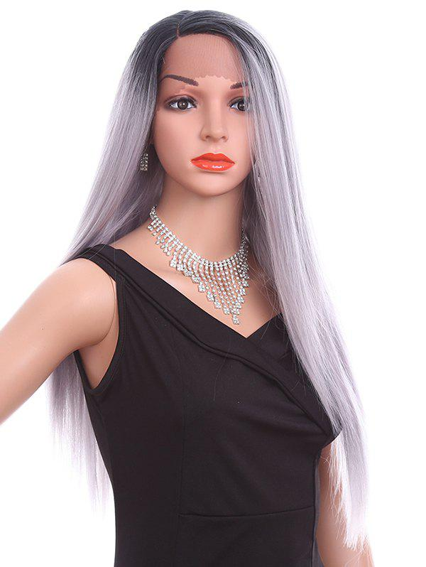 Latest Long Side Parting Straight Lace Front Synthetic Wig