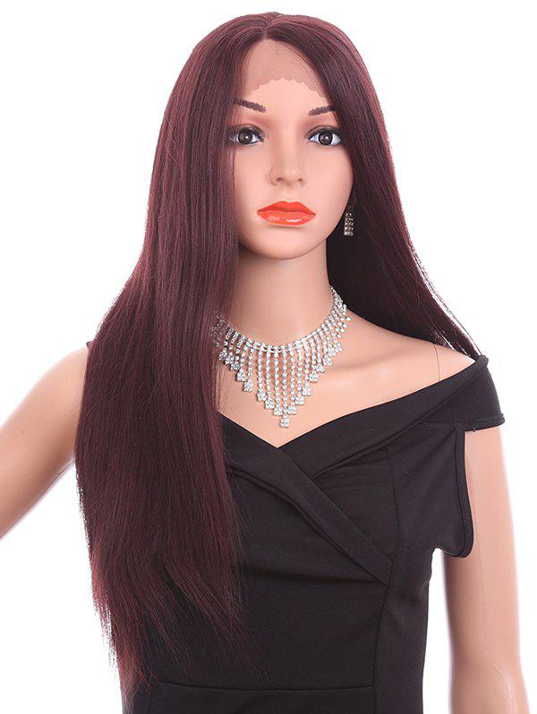 Store Long Side Parting Straight Lace Front Synthetic Wig