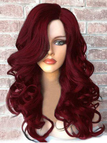 Side Part Long Fluffy Wavy Synthetic Wig 32d41b8444