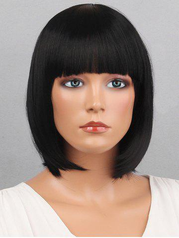 Short Full Bang Bob Straight Synthetic Wig 63ba28429